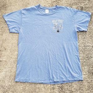 Beale street Memphis, Tennessee graphic tshirt
